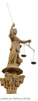 Justitia am Rathaus Görlitz